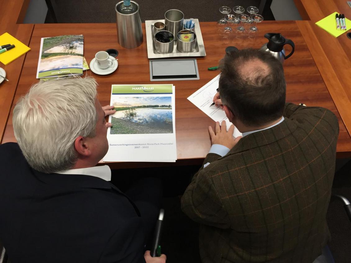Ondertekening samenwerkingsovereenkomst RivierPark Maasvallei