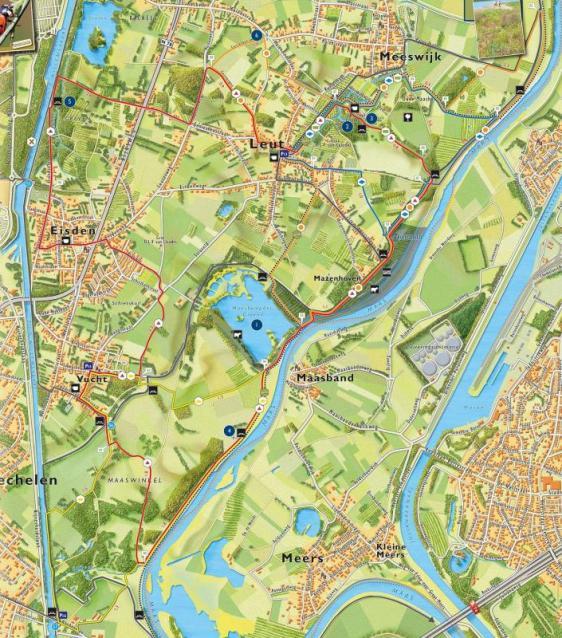 Detailkaart wandelgebied Leut