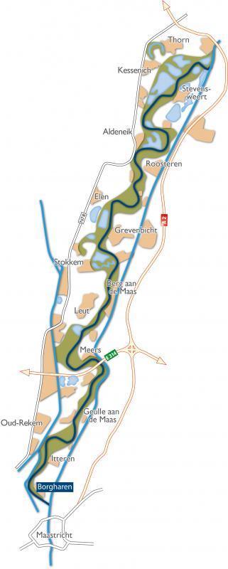 Situeringskaart Maasvallei - Borgharen