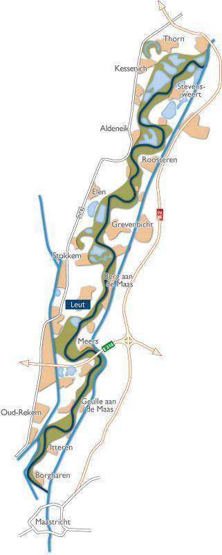 Situeringskaart Maasvallei - Leut